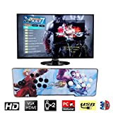 HAAMIIQII [2177 HD Retro Games] 3D Pandora's Key 7 Arcade Video Game Console 1920x1080 Full HD 2 Players Arcade Machine Support TF Card to Expand More Games for PC / Laptop / TV / PS3 (KOF XIV White)