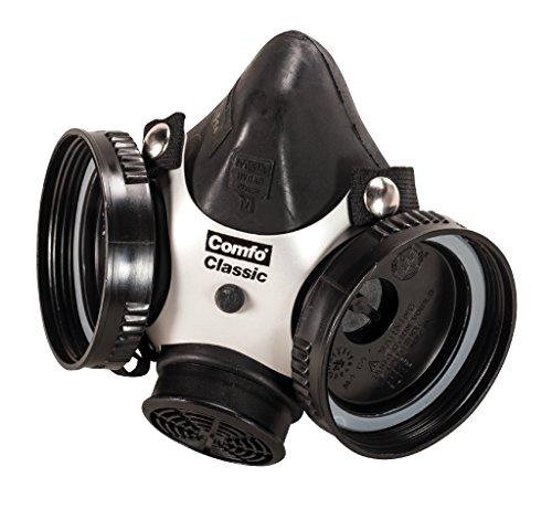 MSA 808071 Comfo Classic Soft Feel Silicone Half-Mask Facepiece Respirator, Medium, Black by MSA