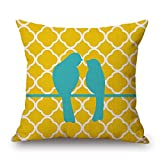 Loveloveu Throw Pillow Covers Of Bird,for Living Room,floor,family,festival,teens,bench 16 X 16 Inches / 40 By 40 Cm(two Sides)