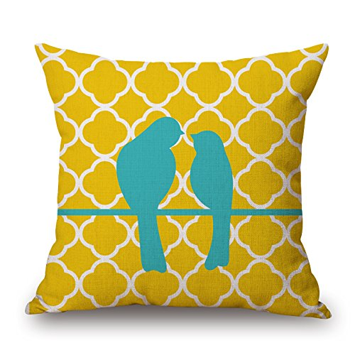[Loveloveu Throw Pillow Covers Of Bird,for Living Room,floor,family,festival,teens,bench 16 X 16 Inches / 40 By 40 Cm(two] (Group Costumes For 3 Guys)