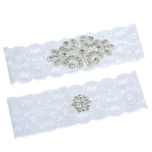 Topwon Wedding Garter Set / Bridal Garter / Lace Garter / Keepsake and Toss Garter