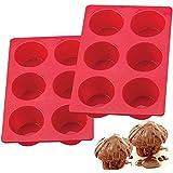 European LFGB Silicone Jumbo Muffin Pan 6 Cup, Non-Stick Large Cupcake Baking Pan, Egg Cupcake Molds, BPA Free Muffin…