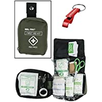 First Aid Kit Erste Hilfe Set medium oliv + AOS-Outdoor® Flaschenöffner