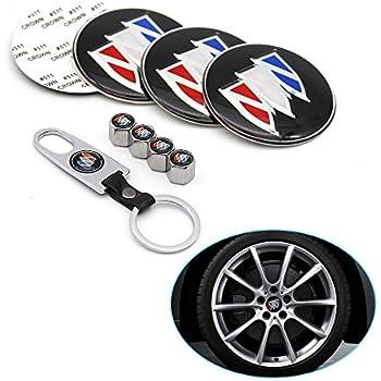 4Pcs Car Wheel Tire Air Valve Caps Tyre Dust Stems Covers Logo For Buick
