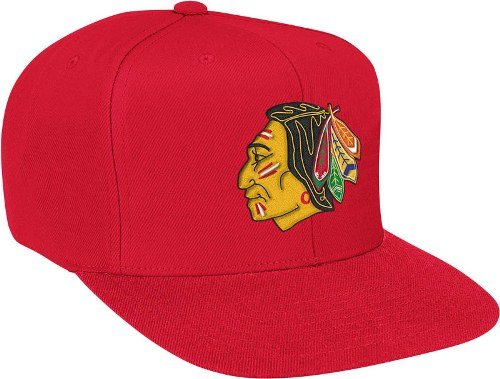Mitchell & Ness Men's The Chicago Blackhawks Vintage Wool Solid Snapback Cap One Size Red by Mitchell & Ness (Image #1)