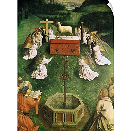- Jan Van Eyck Wall Peel Wall Art Print Entitled Copy of The Adoration of The Mystic Lamb, from The Ghent Altarpiece 22