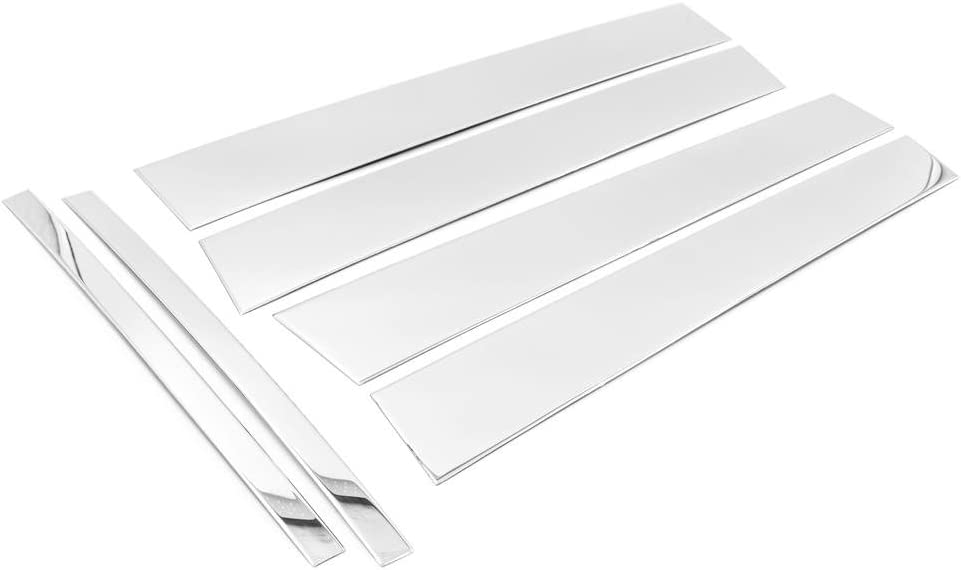 Made in USA Works with 2007-2014 Lincoln MKX//Ford Edge 6PC Stainless Steel Chrome Pillar Post