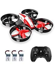 $35 » Holy Stone Mini Drone for Kids Beginners, Throw to go Indoor RC Nano Quadcopter Plane with Altitude Hold, 3D Flips, Headless Mode and 3 Batteries Toys for Boys Girls, Upgraded HS210 Red