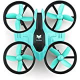 Kids 2.4GHz RC Hexacopter 4CH 6 Axis Gyro Mini RC Drone Quadcopter with Headless Mode / Speed Switch Toy Cyan