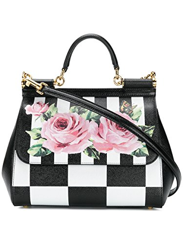 Dolce E Gabbana Women's Bb6002an186hwi10 White/Black Leather - Bag Gabbana Dolce And Black