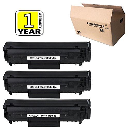 - Etechwork CRG104 Toner Cartridge 3 Pack Compatible for ImageCLASS MF4350 MF4370 MF4380DN MF4690 LaserBase MF4100 MF4150 MF4270, Black Color