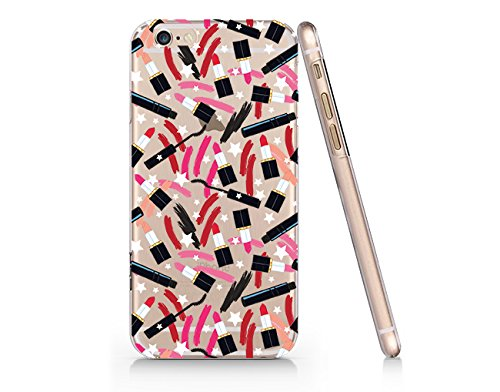Lipstick And Mascara Pattern Slim Iphone 6 6s Case, Clear Iphone Hard Cover Case For Apple Iphone 6 6s Emerishop (NLA161.6sl)