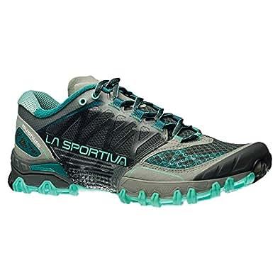 La Sportiva Women's Bushido Trail Running Shoe, Grey/Mint, 36 M EU