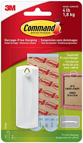 [Amazon.ca] Command Sawtooth Picture Hanging Hooks, 1 Hanger 2 Large Strips, White – Damage-Free, $1 [75% off]