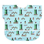 Bumkins Baby Toddler Bib, Nintendo Waterproof Junior Bib, Super Mario 8-Bit Game (1-3 Years)