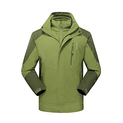 Image Unavailable. Image not available for. Color  DaySeventh Men s Winter  Outdoor Outfit Two Piece Three in One Waterproof Breathable Coat 555388dc0