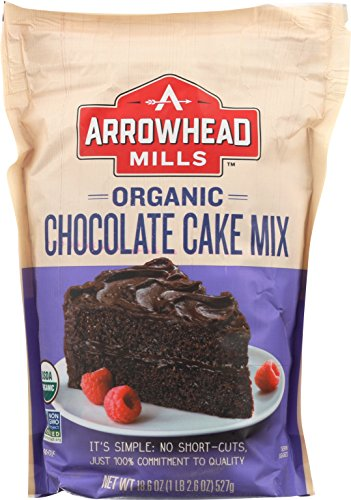Arrowhead Mills Organic Chocolate Cake Mix, 18.6 oz. Bag (Pack of (Chocolate Organic Cake)