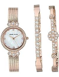 Women's Swarovski Crystal Accented Watch and Bracelet Set, AK/3202RGST