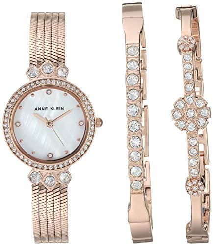 ساعت مچی زنانه آن کلاین مدل AK/3202RGST به همراه ست دستبند