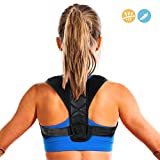 Penewell Posture Corrector for Women & Men, Relieves Upper Back & Shoulders Pain, Corrects Slouching, Hunching & Bad Posture, Clavicle Support Adjustable Brace