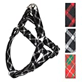 PUPTECK Adjustable Basic Dog Harness – Step in Nylon Puppy Vest 3 Colors for Outdoor Walking Black & White M Review