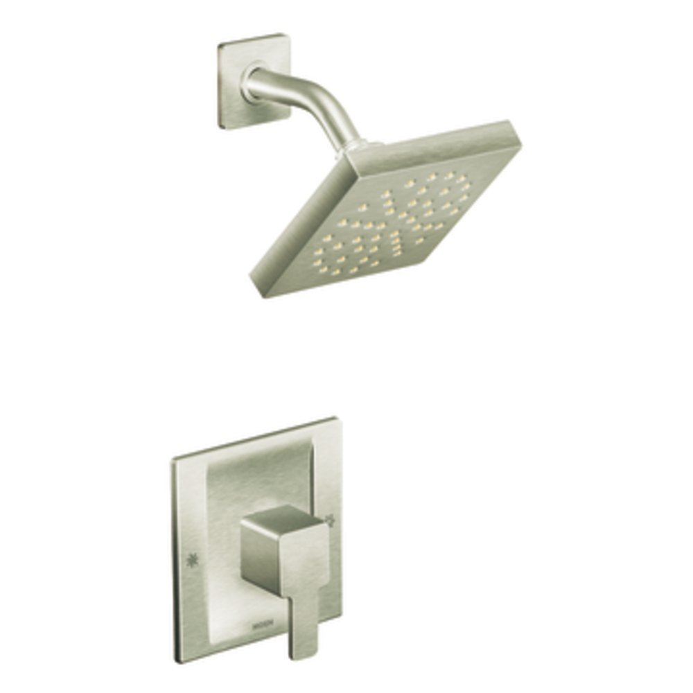 Moen TS2712BN 90 Degree PosiTemp Shower Trim Kit without Valve, Brushed Nickel