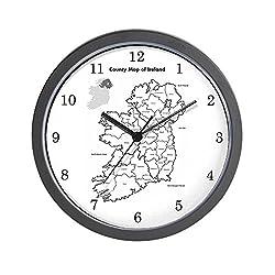 CafePress - Ireland Map - Unique Decorative 10 Wall Clock