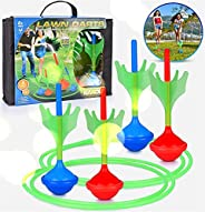 N\C Glow in Dark Lawn Darts Set for Kids Adults Outdoor Backyard Pack Toys Family Fun Multiplayer Throwing Gam