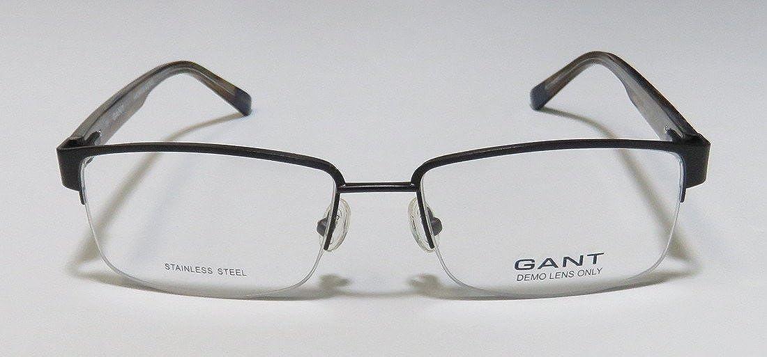 Gant 3072 Mens Designer Half-rim Spring Hinges Popular Style Sleek Stainless Steel Eyeglasses//Eyewear