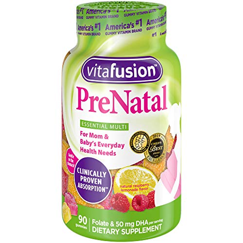 Vitafusion Prenatal Gummy Vitamins, 90 Count (Packaging May Vary) (Whats The Best Prenatal Vitamin)