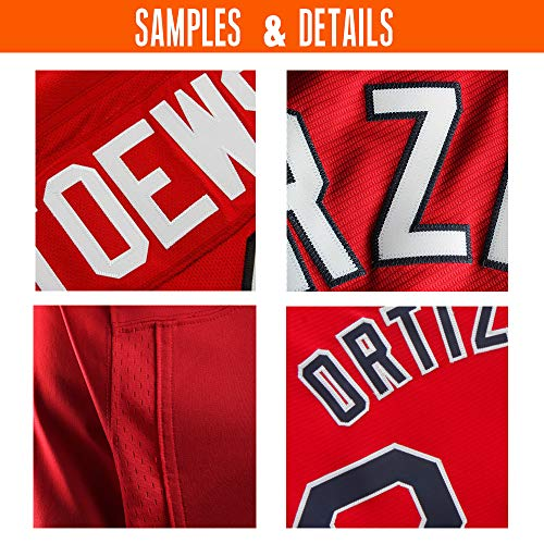 6b1a67fc2 Custom Red Mesh Replica Football Jersey Embroidered Team Name and Your  Numbers