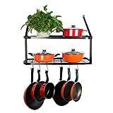 VDOMUS Shelf Pot Rack Wall Mounted Pan Hanging