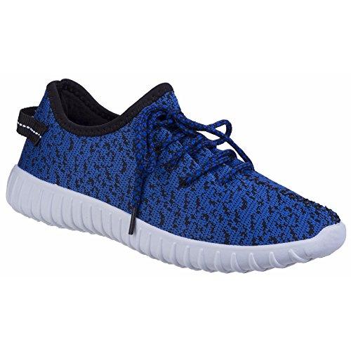 Divaz - Zapatillas bajas con cordones modelo Zest Knit-Weave para mujer Azul
