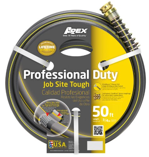 Apex, 988VR-50, Professional Duty Water Hose, 3/4-Inch-by-50-Foot Hose (Swan Water Hose)