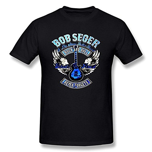 Ptshirt.com-18992-WunoD Men\'s Bob Seger Album Logo T-shirt-B01CEAXUSM-T Shirt Design