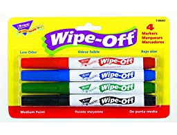 4-Pack Standard Colors Wipe-Off® Markers