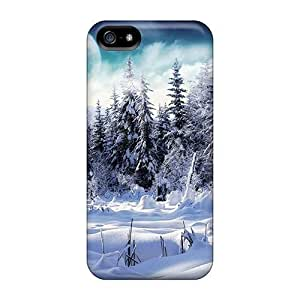 Tpu Saraumes Shockproof Scratcheproof Snow Forest Hard Case Cover For Iphone 5/5s