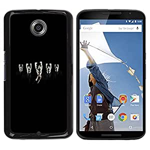 Paccase / SLIM PC / Aliminium Casa Carcasa Funda Case Cover para - Rebel Privacy Protest Black - Motorola NEXUS 6 / X / Moto X Pro