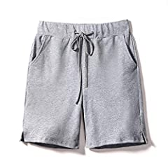 Sobrisah Women's Elastic Waist Soft Knit Jersey Bermuda Shorts with Drawstring Item Features: 1. Loose fit, Knee length, Elastic waist with drawstring, 2 side pockets 2. Double needle stitch cuffs 3. Wide ribbed waistband with adjustable oute...