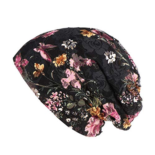 iBelly Womens Baggy Slouchy Beanie Hat Floral Turban Cotton Chemo Hat Sleeping Hat