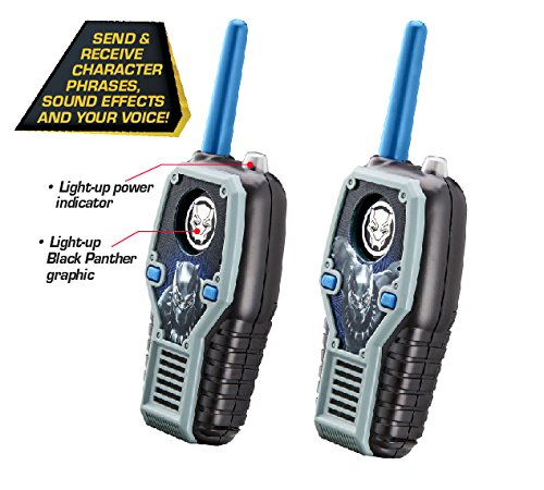 eKids Black Panther FRS Walkie Talkies with Lights & Sounds Kid Friendly Easy to Use by eKids (Image #3)