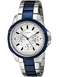 GUESS Womens U0235L6 Iconic Two-Tone Stainless Steel Watch