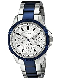 Guess Women's U0235L6 Two-Tone Stainless-Steel Quartz Watch with Silver Dial