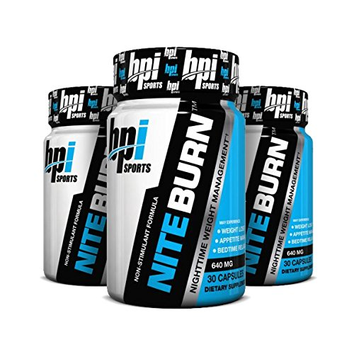 BPI Sports Nite Burn Nighttime Weight Management Formula 90 Count [3 Pack] by BPI Sports