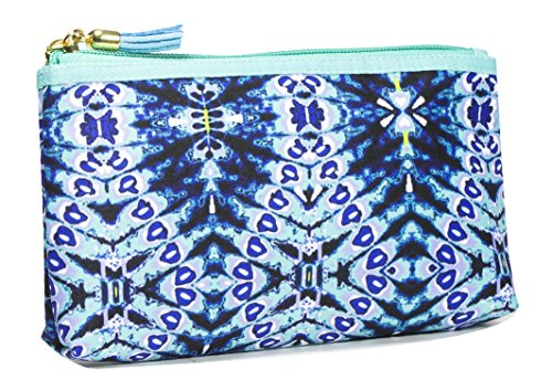 Modella Indigo Hues Collection Cosmetic Purse Kit, Tie Dye