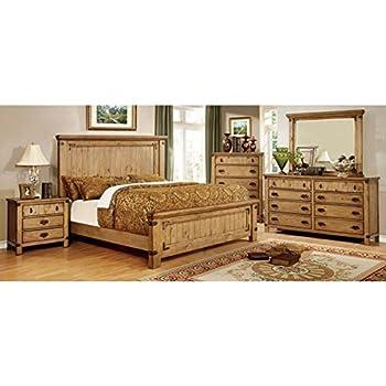247SHOPATHOME IDF-7449EK-6PC Bedroom Set, King, Weathered