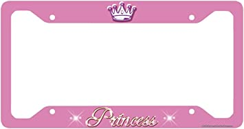 BABY GIRL PINK BLACK STEEL Metal License Plate Frame