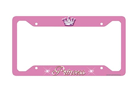 Amazon.com: Airstrike Princess License Plate Frame, Princess Car Tag ...