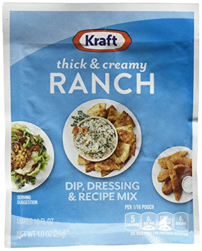Kraft Thick & Creamy Ranch Dip Dressing (1 oz Packet) (Best Store Bought Caesar Dressing)