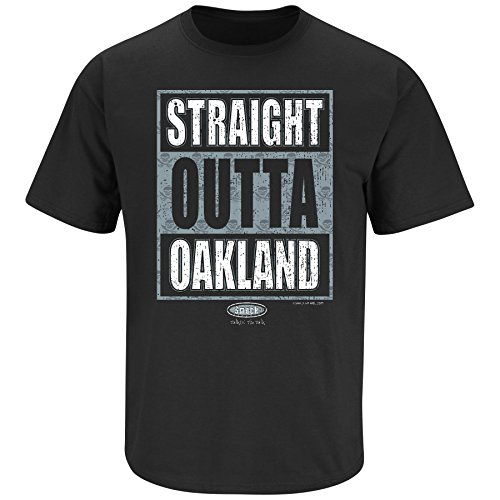 (Raiders Football Fans. Straight Outta Oakland. Black T Shirt (Sm-5X) (X-Large))